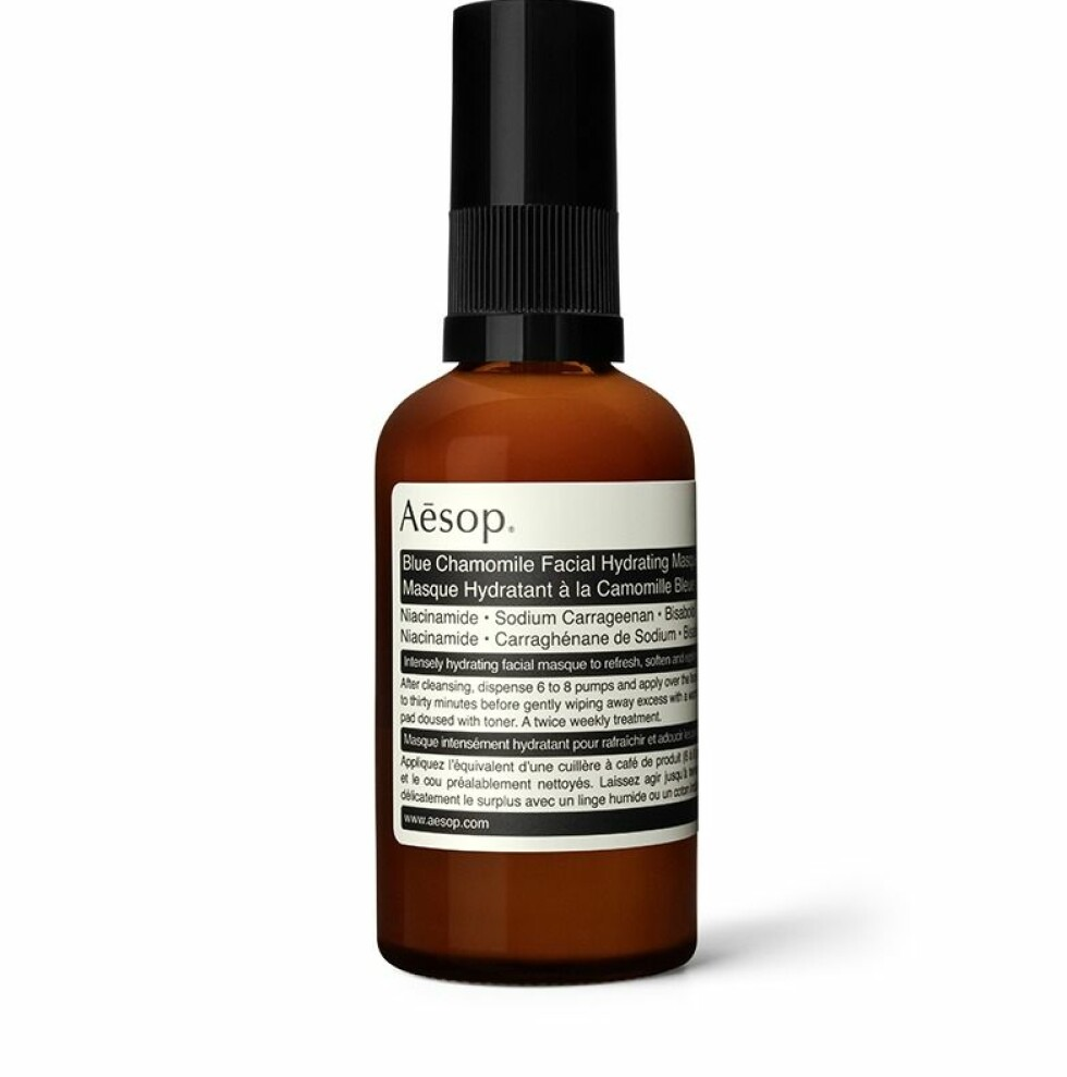 Aesop |420,-|https://www.aesop.com/nz/p/skin/treat-masque/blue-chamomile-facial-hydrating-masque/