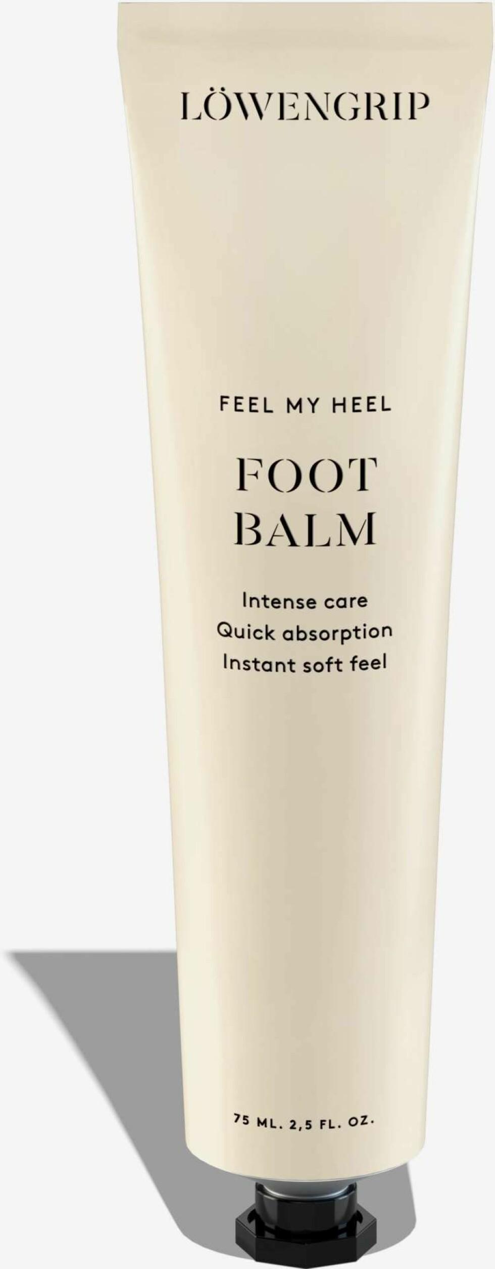 Foot balm fra Löwengrip |119,-|https://www.kicks.no/hudpleie/kroppspleie/fotpleie-pedikyr/feel-my-heel---foot-balm-75-ml