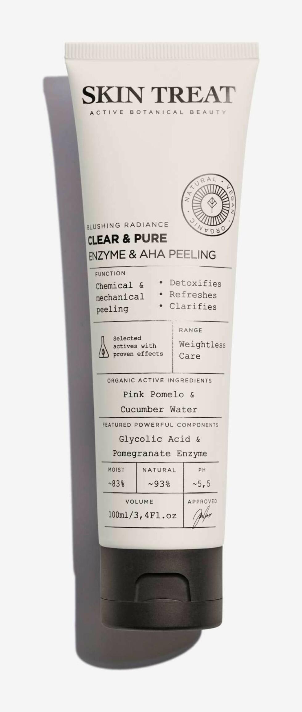 Dyprenser fra Skin Treat |119,-|https://www.kicks.no/hudpleie/kroppspleie/skrubb-peeling/skin-treat-clear-pure-enzym-skin-treat-clear-pure-enzym-peeling100-ml