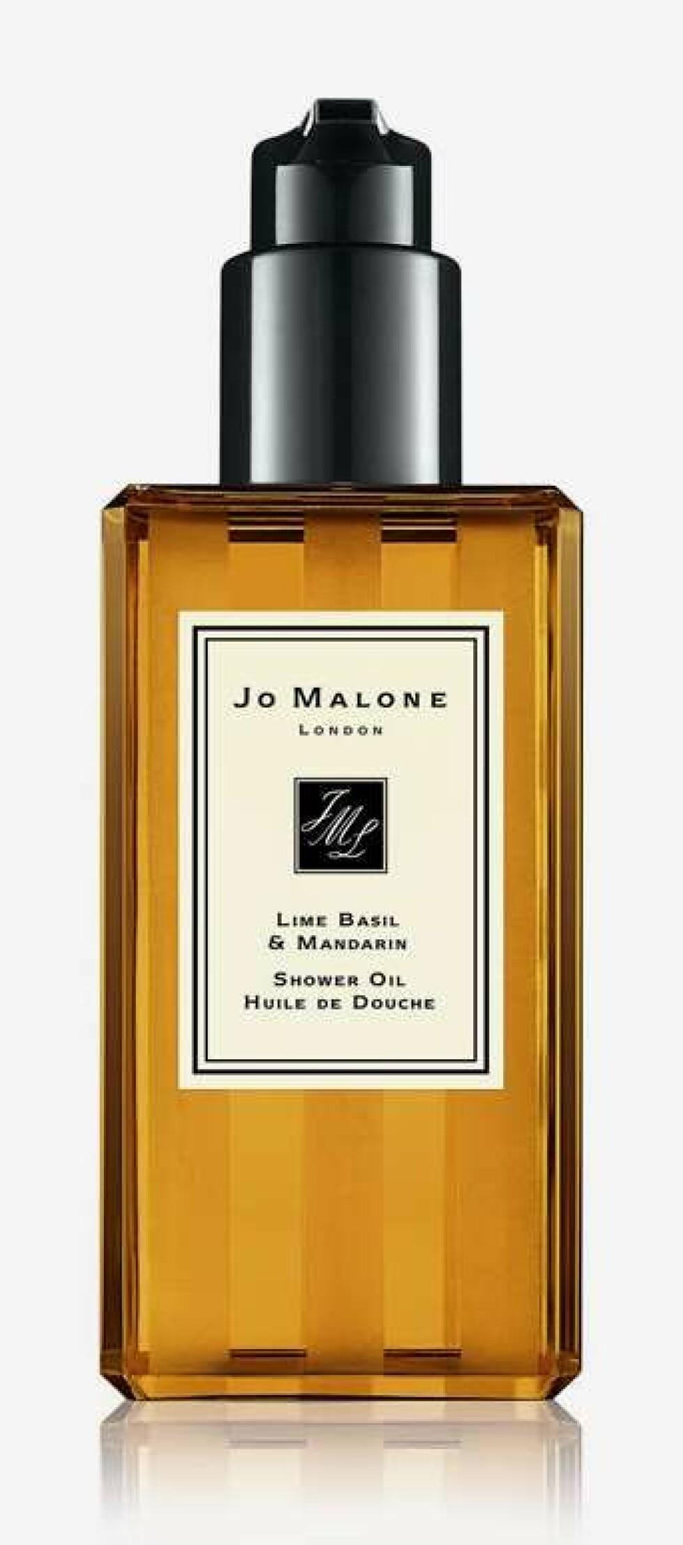Shower oil fra Jo Malone |340,-|https://www.kicks.no/hudpleie/kroppspleie/badeolje/lime-basil--mandarin-shower-oil-250-ml