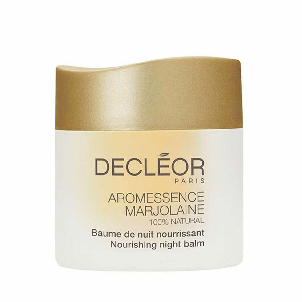 Night balm fra Decleor |359,-|https://skincity.no/no/aromessence-marjolaine-nourishing-night-balm-15ml