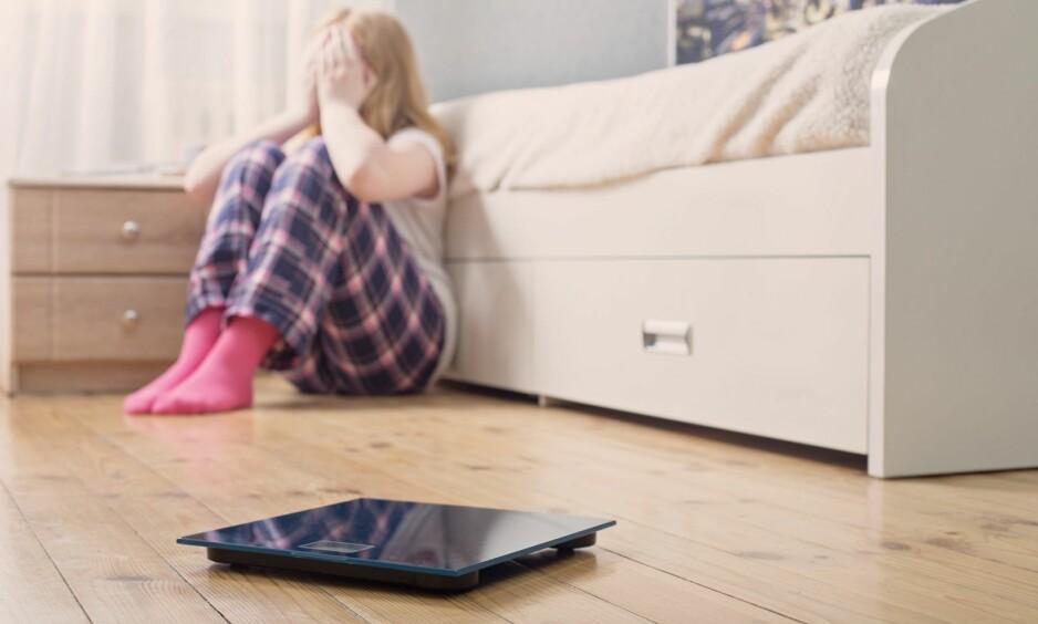 VEIING AV BARN: Det store fokuset på veiing og vekt i tidlig alder, ble katastrofalt for tolv år gamle «Sara». ILLUSTRASJONFOTO: NTB Scanpix