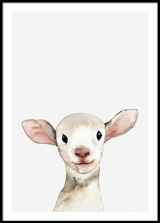 Plakat fra Desenio |59,-| https://desenio.no/no/artiklar/little-lamb-plakat.html