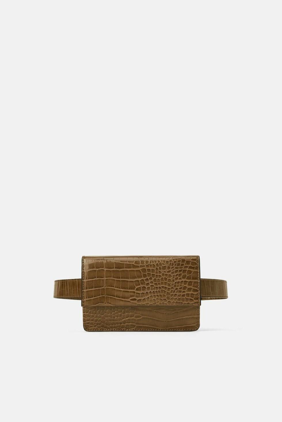 Rumpetaske fra Zara |250,-| https://www.zara.com/no/no/rumpetaske-med-skulderrem-og-dyrem%C3%B8nster-p11651004.html?v1=7887506&v2=1074708