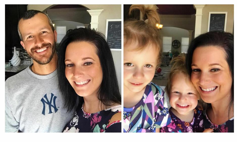 <strong>FAMILIEIDYLLEN SOM BRAST:</strong> Tobarnsfaren Christopher Watts har erkjent at han drepte døtrene Bella og Celeste, og kona Shan'ann Watts, i august. I november ble han dømt til livstid uten mulighet til prøveløslatelse. FOTO: NTB Scanpix og skjermdump Facebook