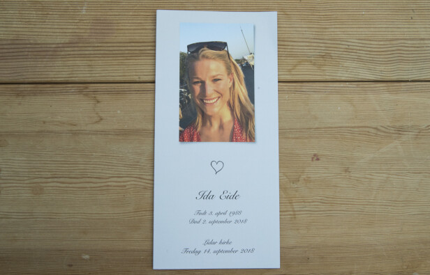 TUNGT FARVEL: 30 år gamle Ida Eide ble gravlagt fra Lidar kirke i Øystre Slidre 14. september 2018. FOTO: Vidar Ruud / NTB scanpix