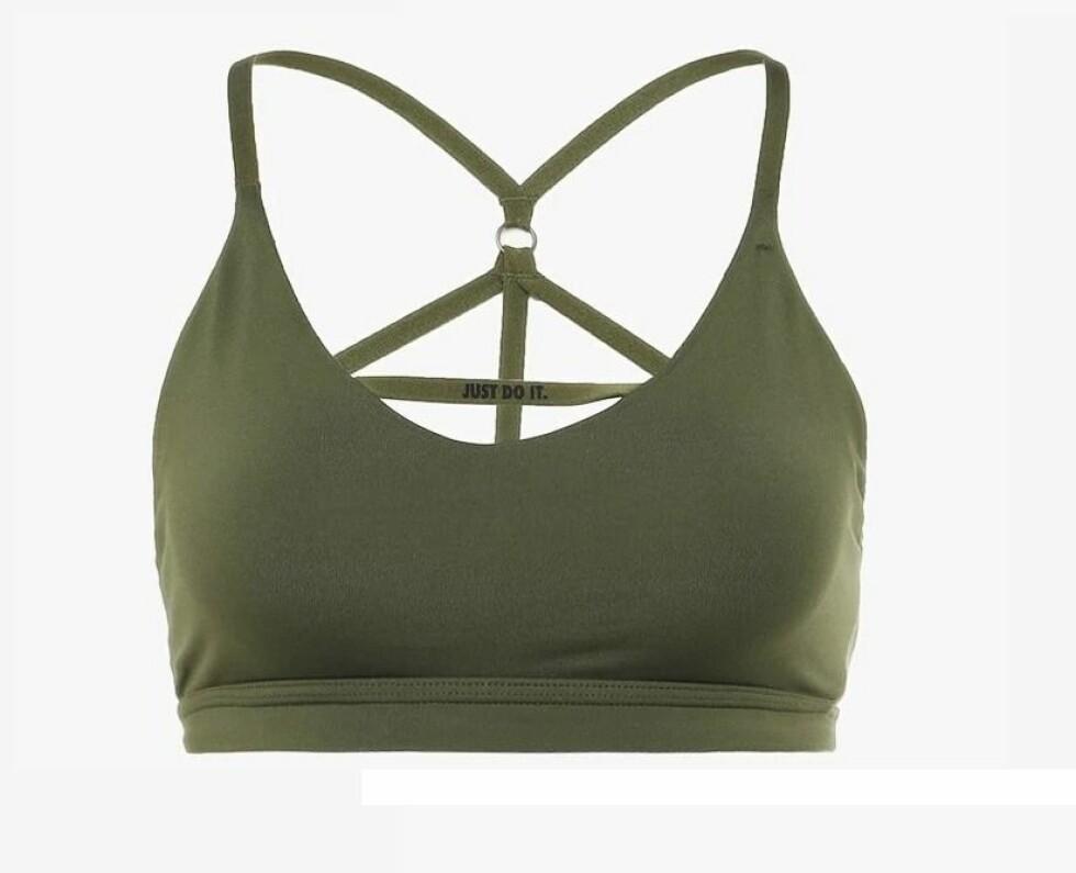 Sports-bh fra Nike |377,-| https://www.net-a-porter.com/no/en/product/1061783/nike/indy-stretch-sports-bra