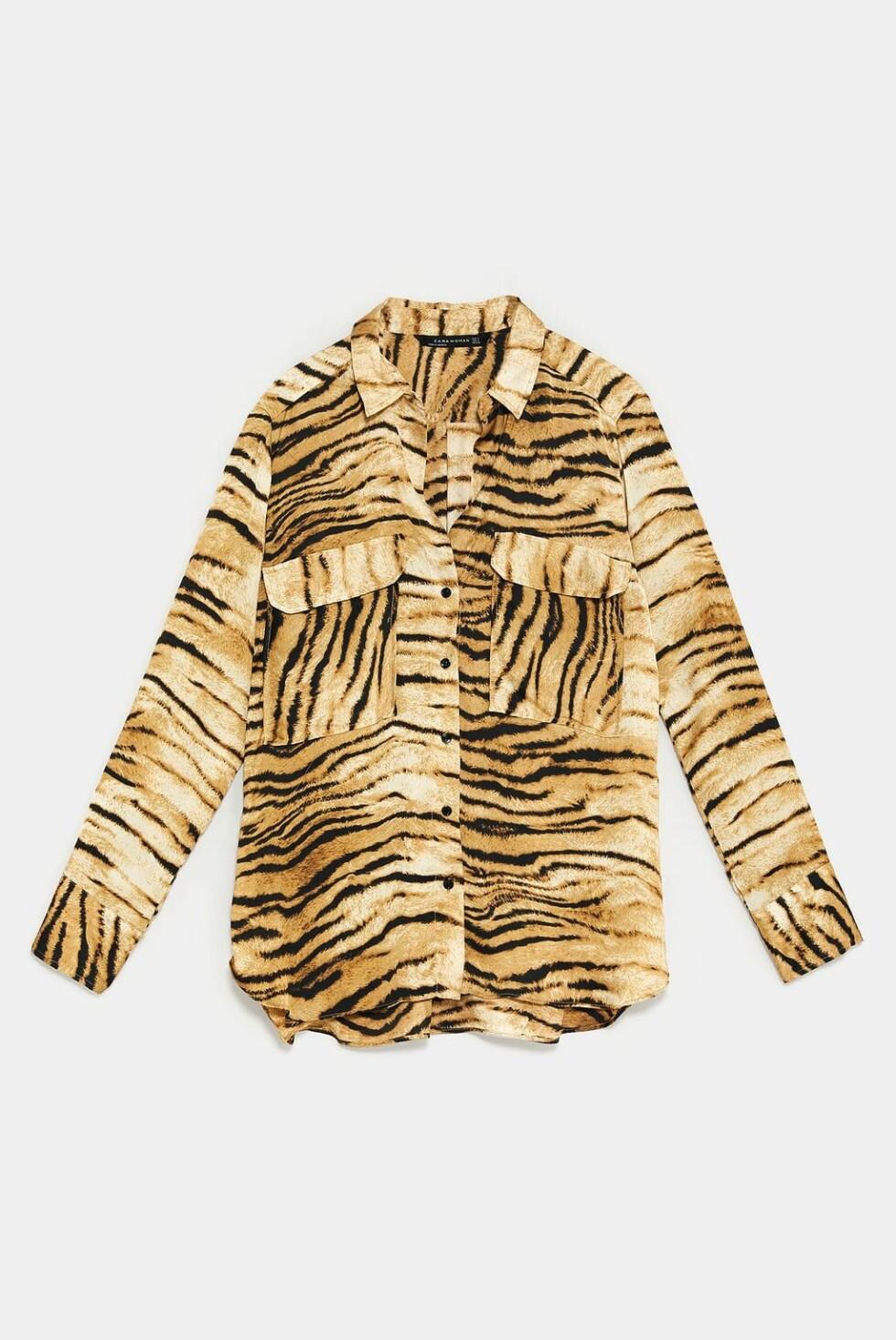 Skjorte fra Zara |399,-| https://www.zara.com/no/no/bluse-med-dyrem%C3%B8nster-p07690942.html?v1=8381532&v2=1074660