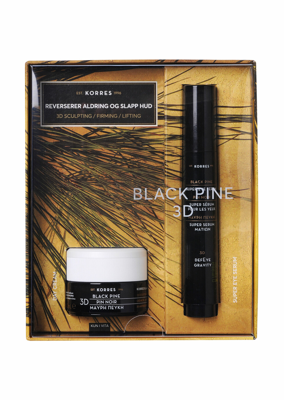 Korres |389,-| https://www.vita.no/merker/korres/black-pine/korres-black-pine-3d-eye-cream-15-ml-15ml