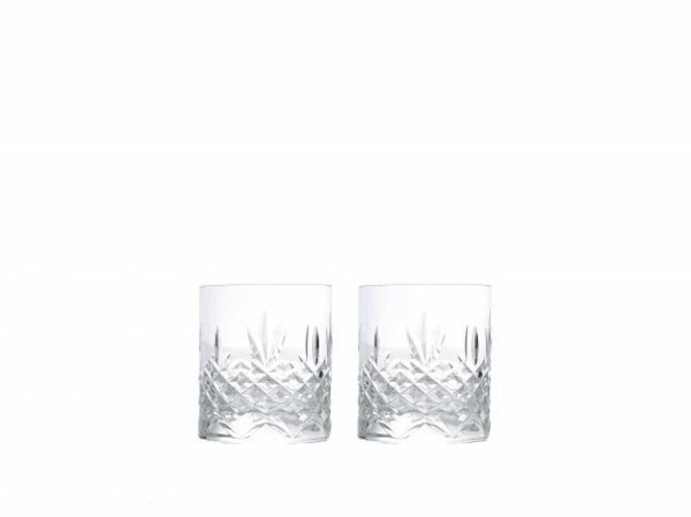 «Crystal Low Ball»-glassene er klassiske og tøffe på en gang (kr 400 for to, Frederik Bagger).