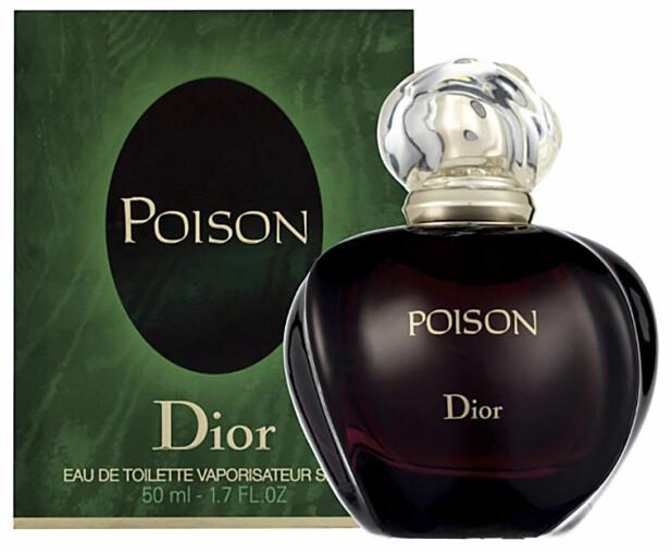 «Poison» skapte med sin søtlige, krydrete og mørke karakter en ny kategori innen parfyme. FOTO: DIOR