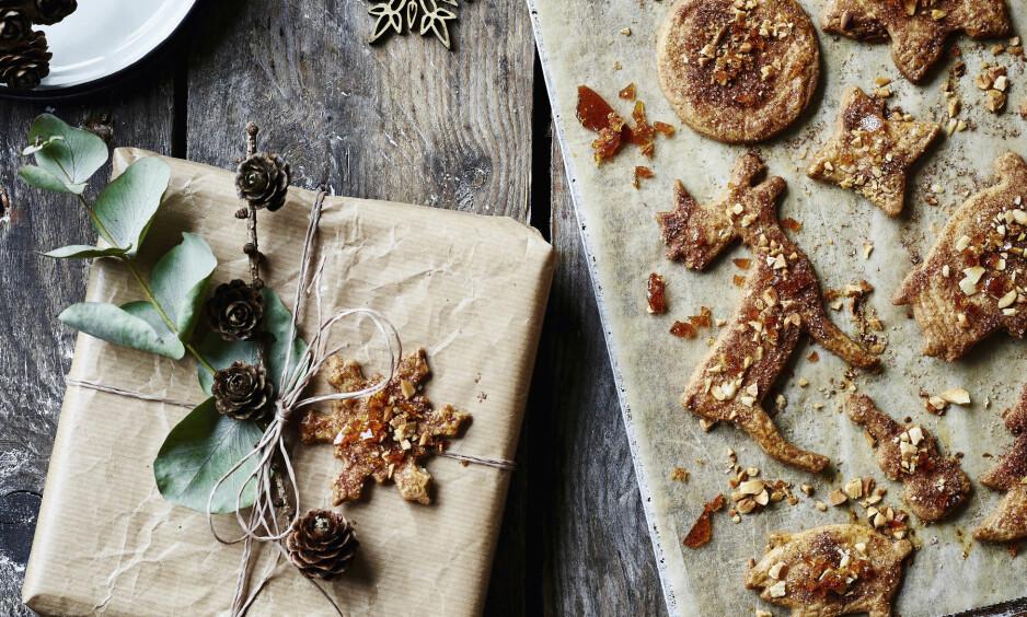 SMÅKAKER: Disse småkakene er perfekt for dem som elsker karamell. FOTO: Stine Christiansen