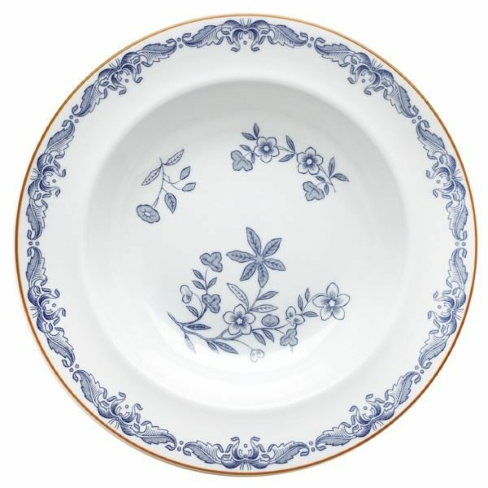 Talerken fra Rörstrand |237,-| https://royaldesign.no/ostindia-deep-plate#/4585