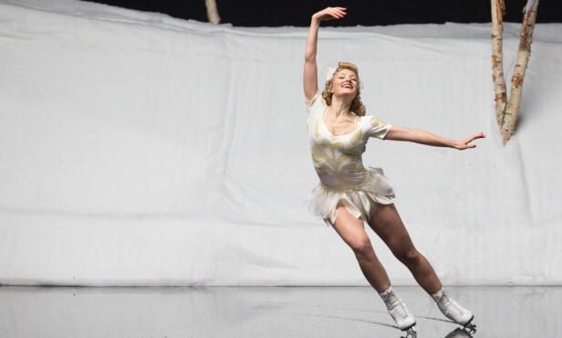 DRIFTIG DAME: Sonja Henies (spilt av Ine Marie Wilmann) pågangsmot og talent fikk henne langt - ja, hele veien fra Frogner Stadion i Oslo til kunstisen i Hollywood. FOTO: Adi Marineci