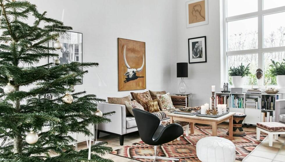 Slik skaper Sara en varm julestemning i det moderne hjemmet sitt