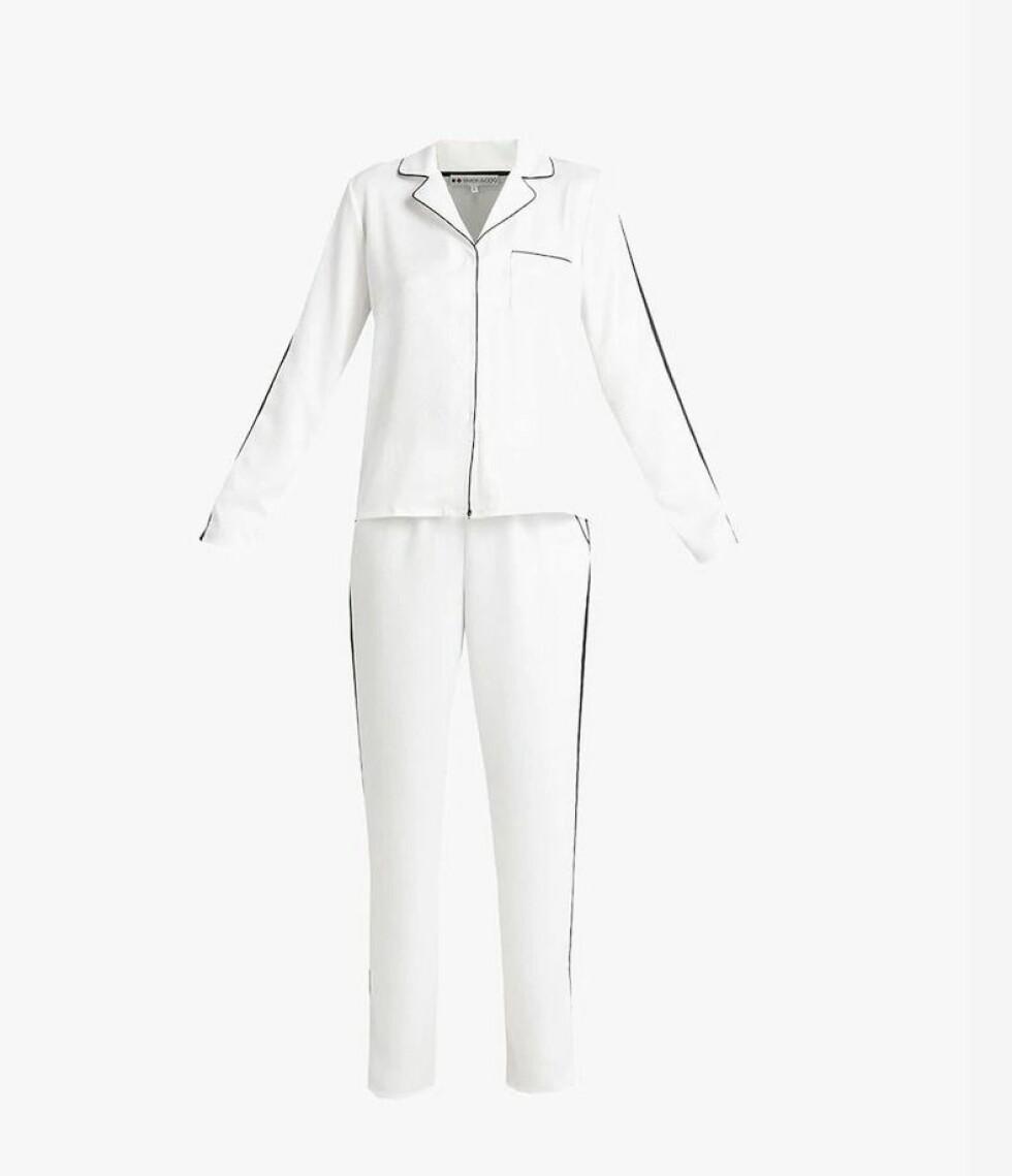Pysj fra Even&Odd |299,-| https://www.zalando.no/evenandodd-set-pyjamas-whiteblack-ev481p01h-a11.html