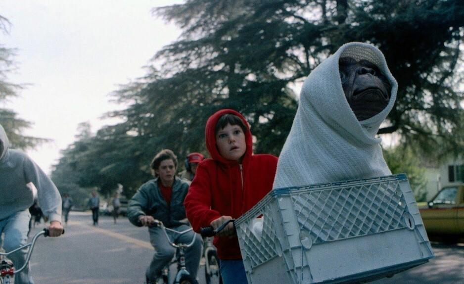 <strong>SLO REKORDER:</strong> I 1982 var filmen om romvesenet E. T. den mest aller populære. FOTO: Skjermdump
