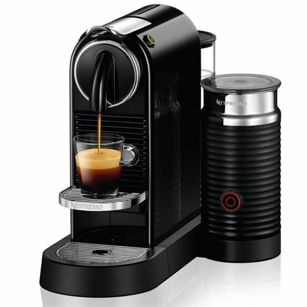 Kaffemaskin fra Nespresso |1999,-| https://www.kitchn.no/nettbutikk/elektrisk/kaffemaskiner/d122-eu-bk-ne/
