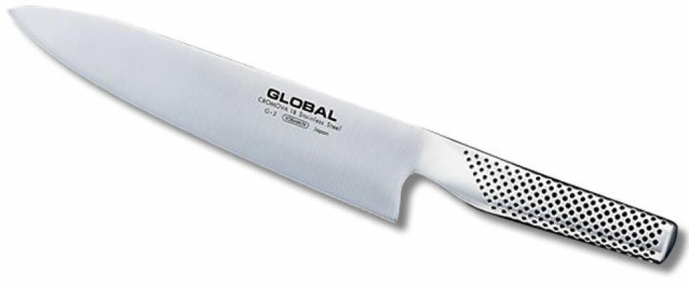Kniv fra Global |1099,-| https://www.tilbords.no/kjokkenredskaper/kokkekniver/kokkekniv-g-2-20-cm/