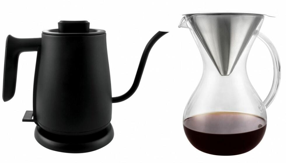Barletta |690,-| https://bakerenogkokken.no/kaffe/kaffetraktere/barletta-pour-over-vannkoker-pour-over-glasskanne/