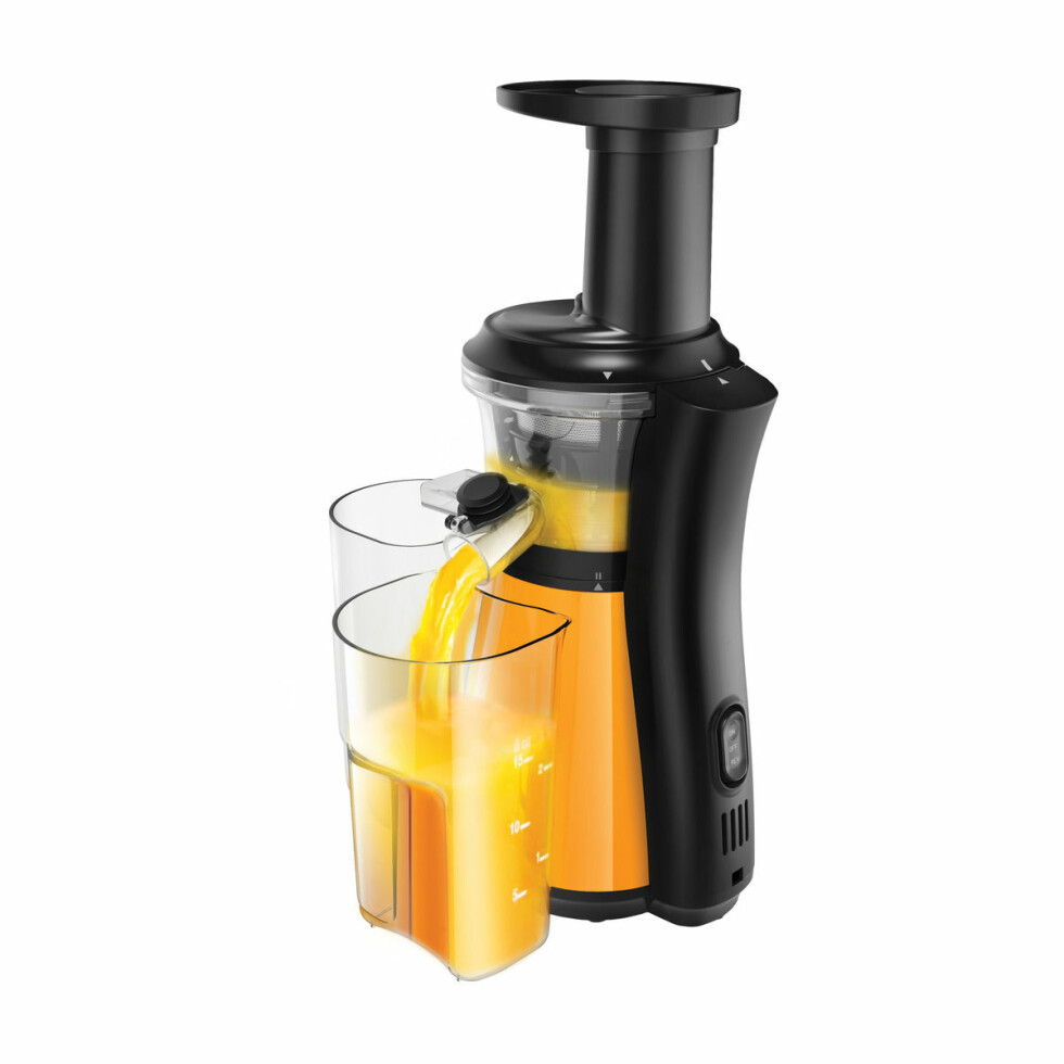 Juicer fra Point Pro |2159,-| https://www.power.no/kjoekkenutstyr/kjoekkenapparater/juicer-og-sitruspresse/point-pro-poje5621or-slow-juicer-orange/p-239174/