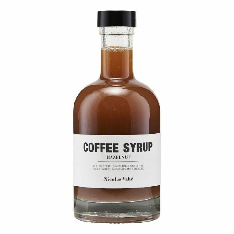 Kaffesirup fra Nicolas Vahe |99,-| https://www.hviit.no/products/kaffesirup-hasselnott