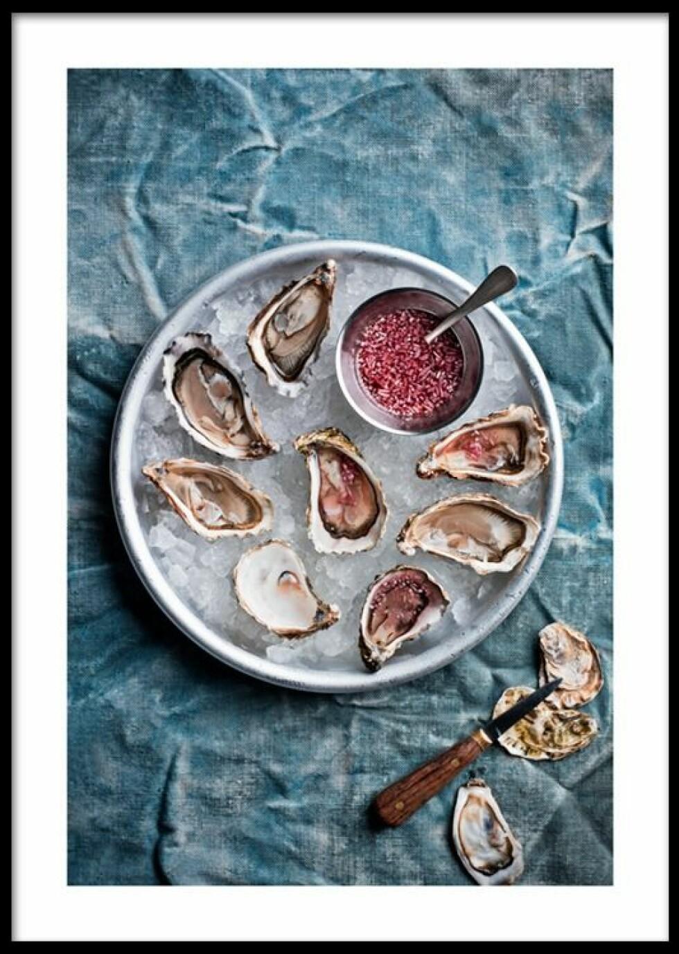 "Plakat ""oyster"" |129,-| https://desenio.no/no/artiklar/oysters-plakat.html"
