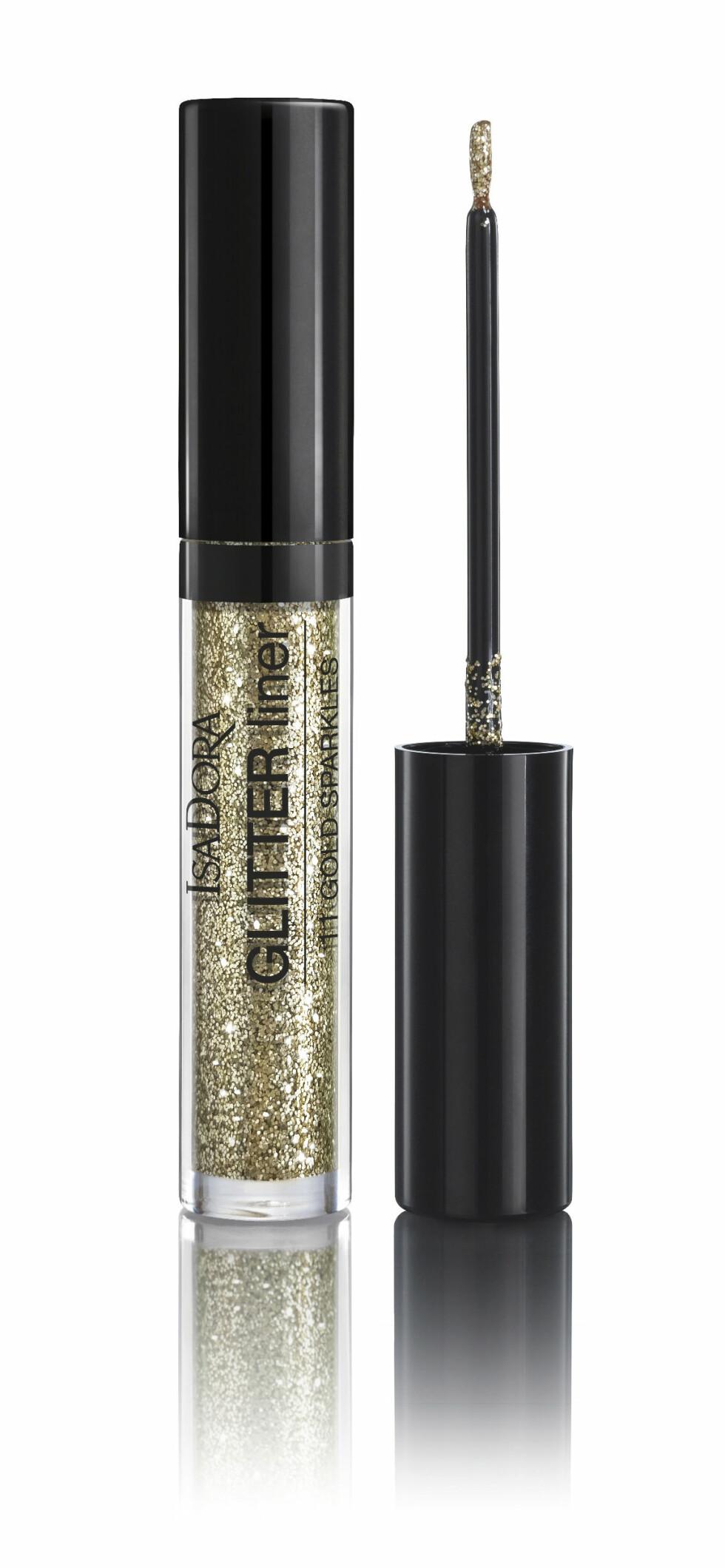 Liner med masse glitter (kr 140, Isadora, Glitter Liner, Gold Sparkles).