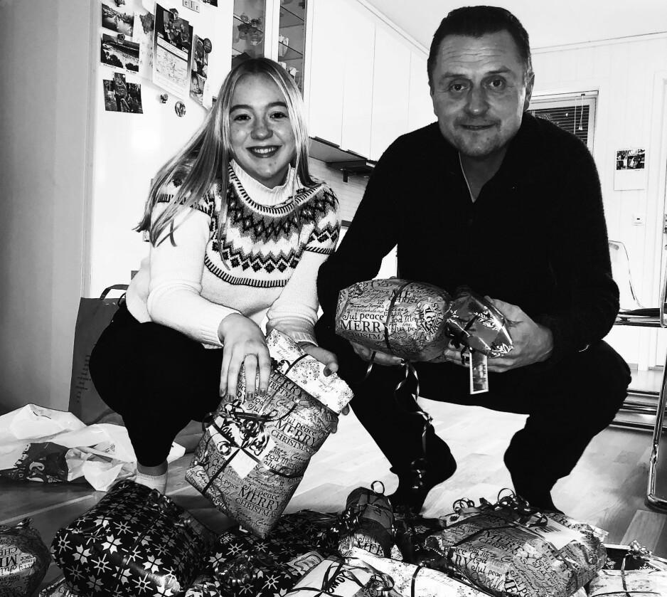 HJELPER ANDRE: Audun og datteren reiser til Oslo for å hjelpe til med å skape jul for andre i ferien. FOTO: Privat