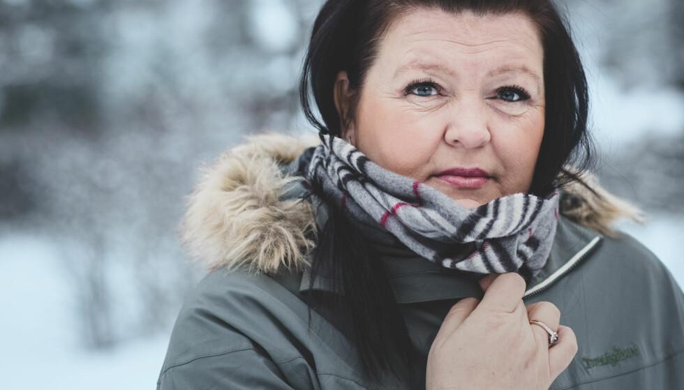 KJENNER SIN SKJEBNE: Bente Linn Strømmen må leve med at hun før eller siden vil bli rammet av et aller siste hjerneslag. FOTO: Astrid Waller