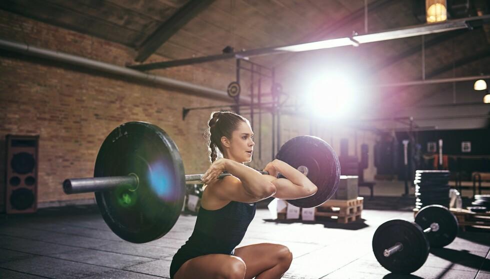 <strong>TREN TUNGT:</strong> Om målet er økt styrke er det tunge vekter som er tingen. FOTO: NTB Scanpix