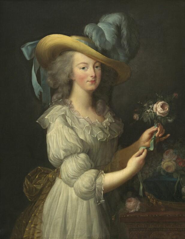FORFENGELIG DRONNING: Marie Antoinette elsket smykker. Her er hun portrettert mer naturell, med naturens egne juveler til pynt. FOTO: NTBScanpix.-