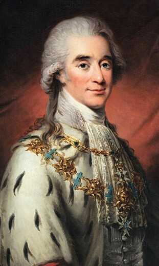 PEN SVENSKE: Axel von Fersen var kjent som en vakker mann og sies å ha vært Marie Antoinettes elsker. Her portrettert av kunster Carl Fredrik von Breda. FOTO: Skjermdump Wikipedia