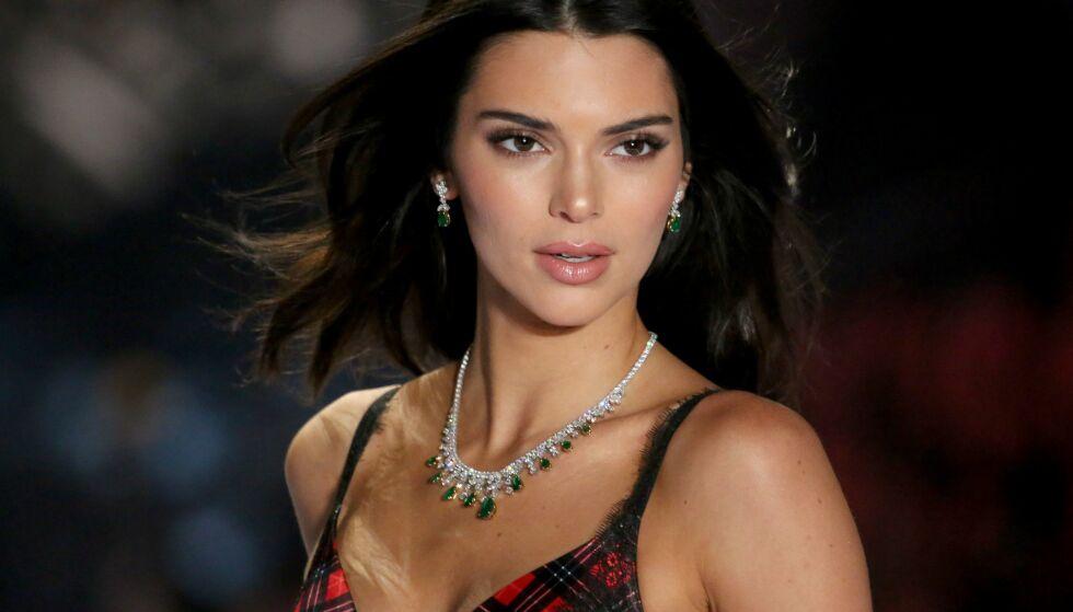 IKKE MED: Kendall Jenner var ikke å se på Kardashian/Jenner-familiens årlige julekort. Nå vet vi hvorfor. FOTO: Scanpix