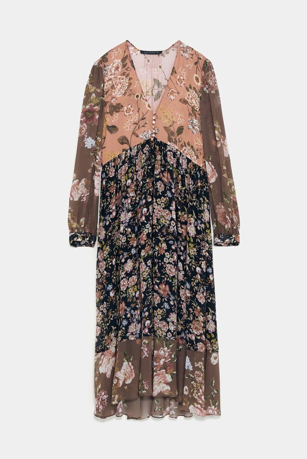 Kjole fra Zara |500,-| https://www.zara.com/no/no/kjole-med-blomsterm%C3%B8nster-p08076727.html?v1=7127050&v2=1177660