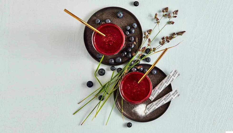 ENKELT Å TA: Rudfjord anbefaler å blande The Solution i smoothien eller yogurten din, eller i ett glass vann.