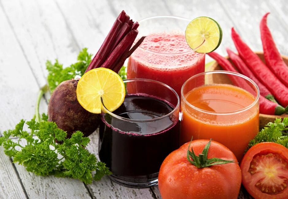DEILIGE JUICER: Kickstart hverdagen med en supersunn juice! Foto: Scanpix