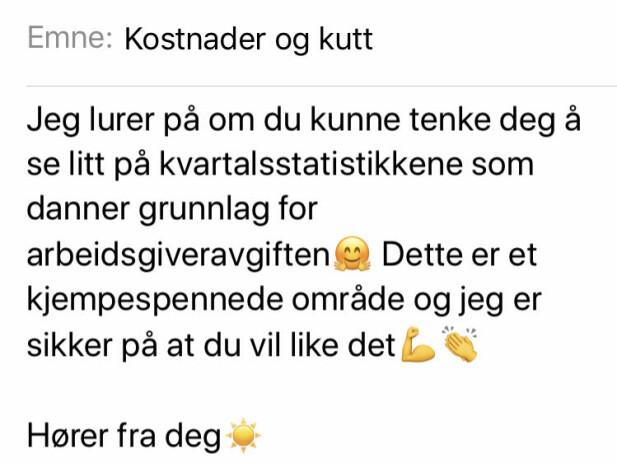 MOTIV?: Hva vil du oppnå ved å bruke smileys? Tenk gjennom, råder dansk ekspert, som mener en altfor uformell tone kan skape konflikter på arbeidsplassen. FOTO: Hege Løvstad Toverud