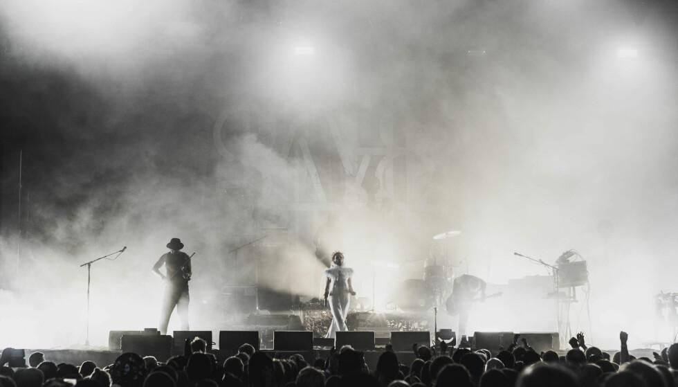 TILBAKE PÅ SCENEN: Etter gjenforeningen i 2018 har Gunnhild og «Gåte» gitt mange konserter og turnert. Her fra Pstereo 2018. FOTO: Arne Vidar Stoltenberg