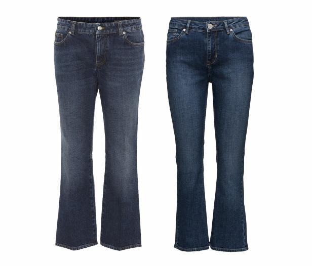 Jeansen til venstre er fra Alexander McQueen via Mytheresa.com, kr 4830. Jeansen til høyre er fra 2NDDAY via Boozt.com, kr 650. Foto: Produsenten