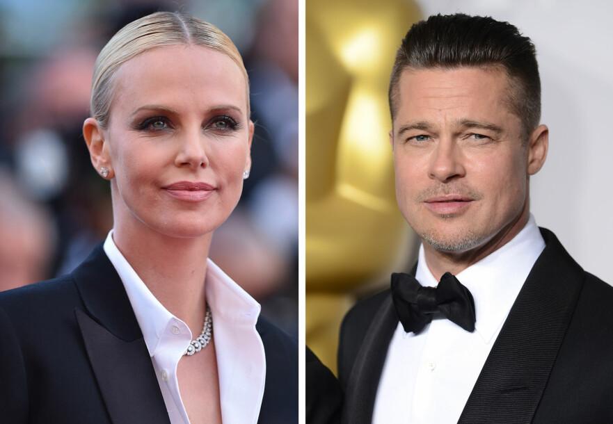 NYTT PAR? Ifølge The Sun skal Charlize Theron og Brad Pitt ha innledet et forhold. Foto: Scanpix