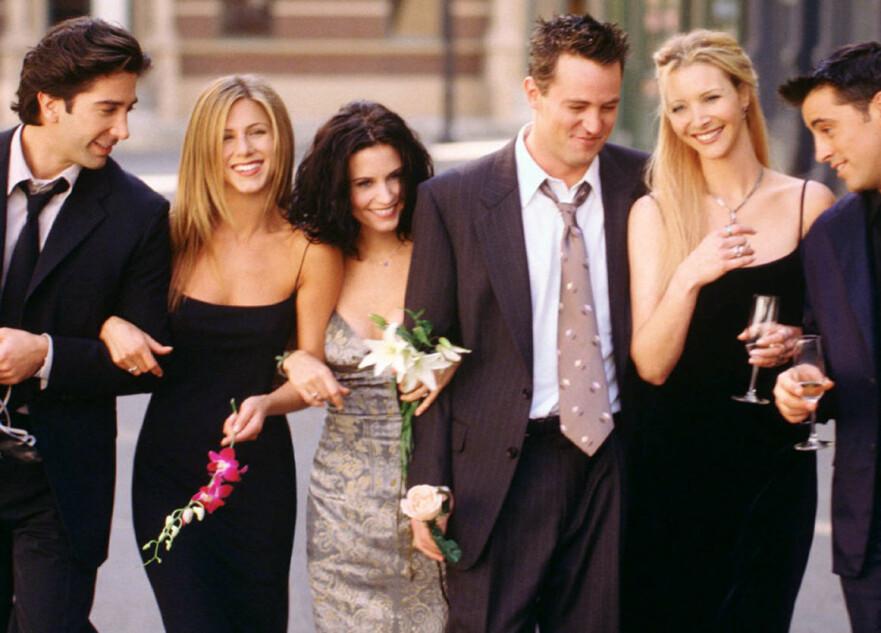 FRIENDS: Tv-serien fra 90-tallet er populær den dag i dag. Mange kjenner igjen disse menneskene, men husker du «Ugly Naked Guy»? Foto: Scanpix