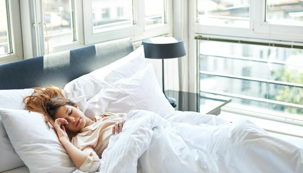 VIKTIG MED SØVN: Søvn er viktig for å få utbytte av treningen. FOTO: Shutterstock