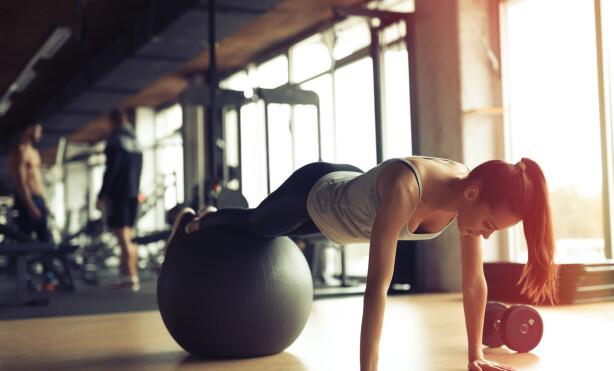 LOW IMPACT TRAINING: Ellipsemaskin, TRX, svømming, sykling, yoga, pilates og enkel styrketrening med egen kroppsvekt er gode eksempler på low impact training. FOTO: NTB Scanpix