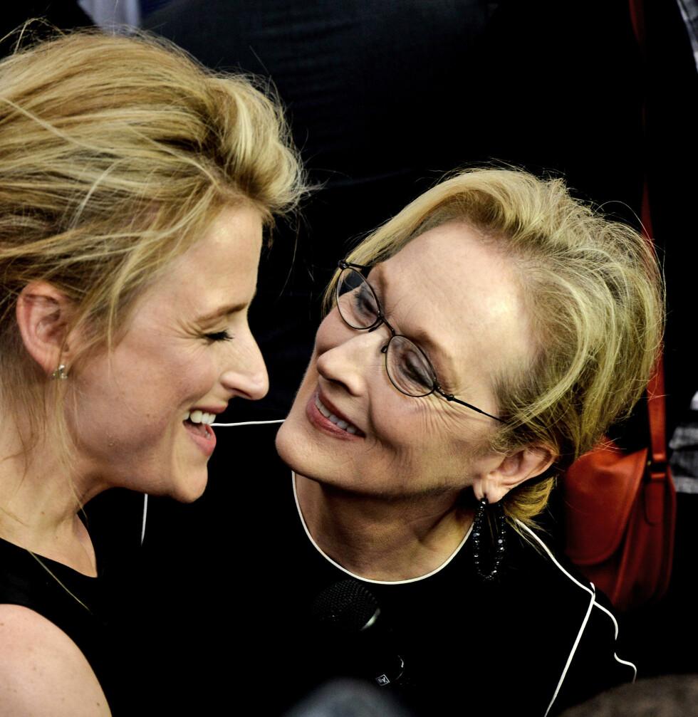 MED SIN BERØMTE MOR: Mamie er eldstedatteren til skuespiller Meryl Streep. FOTO: NTB Scanpix
