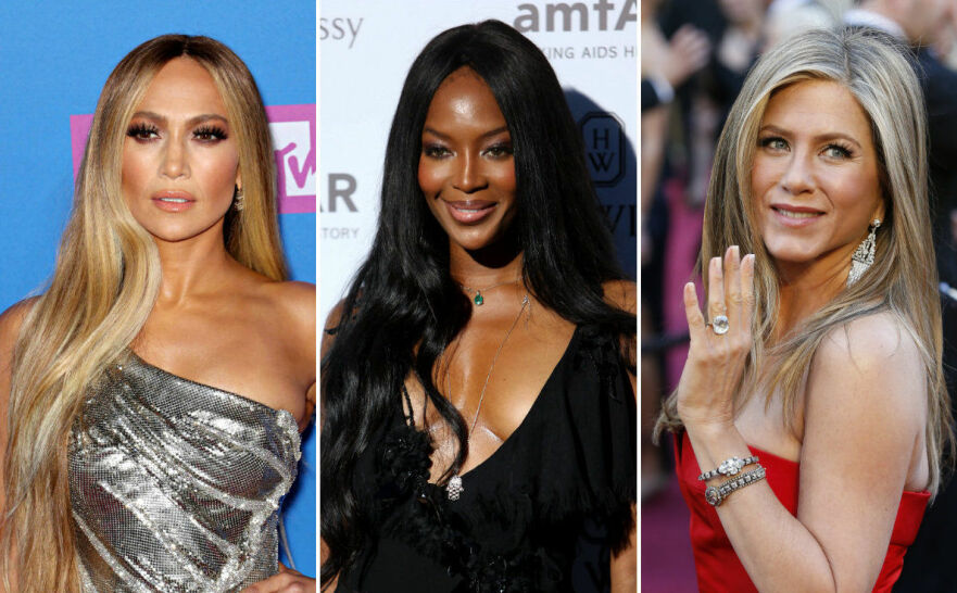 FORETREKKER YNGRE MENN: Jennifer Lopez, Naomi Campbell og Jennifer Aniston. FOTO: Scanpix