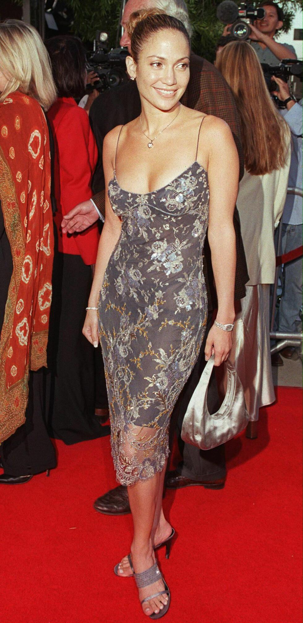 """Unge Lopez på premieren av filmen """"The Affair"""" i 1999. Foto: NTB Scanpix"""