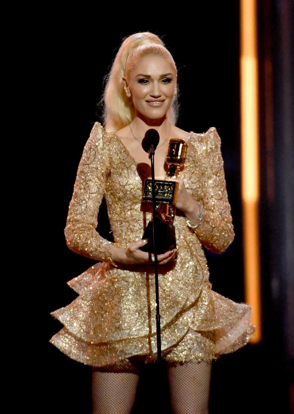 Gwen Stefani holder tale på Billboard Music Awards Show i 2017. Foto: NTB Scanpix