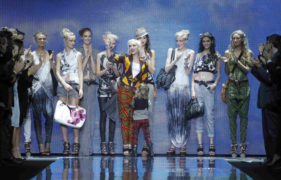 "Gwen Stefani på fashion runway med hennes merke  ""L.A.M.B"" i 2011. Foto: NTB Scanpix"