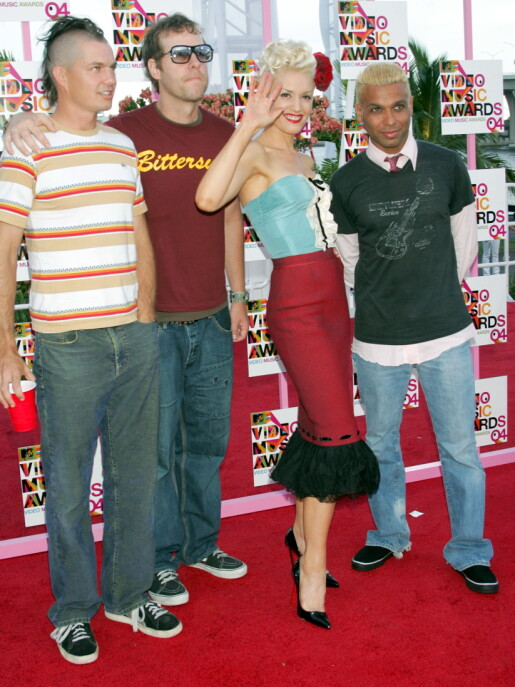 "Bandet ""No doubt"" på MTV Video Awards i 2004. Foto: NTB Scanpix"